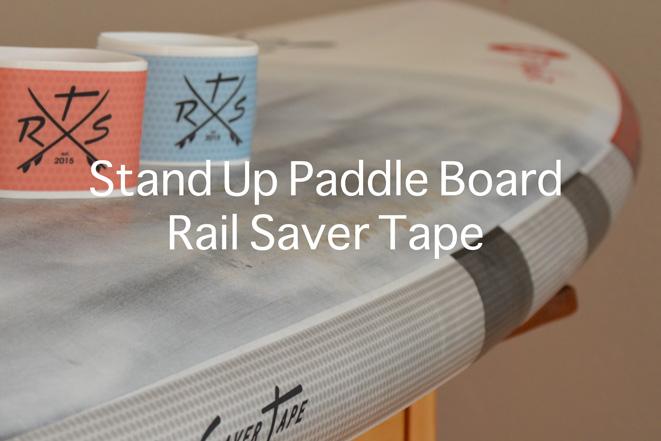 sup board rail saver tape blau rot SUP